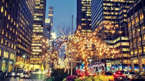 Blogging Away Christmas Lights In New York City
