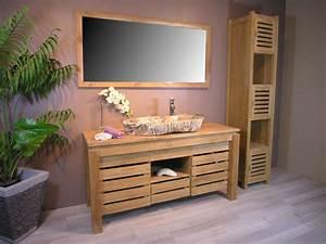 Palette Bois Pas Cher : cuisine meuble bois salle de bain pas cher phioo meuble ~ Premium-room.com Idées de Décoration