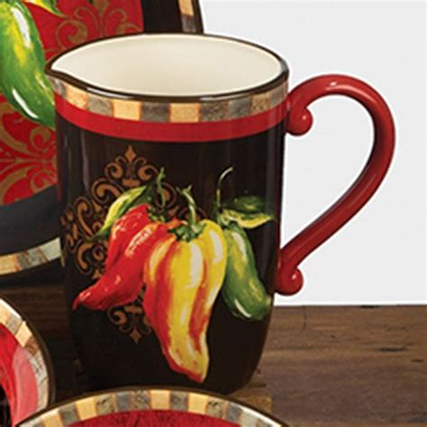 chili pepper decor chili pepper pitcher  quart