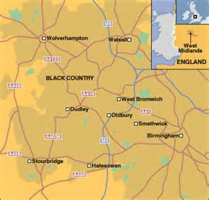 Black Country England Map