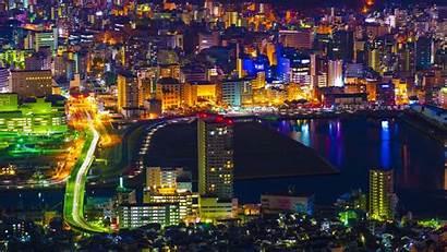 Night Aerial Japan Lights Laptop Tablet Background