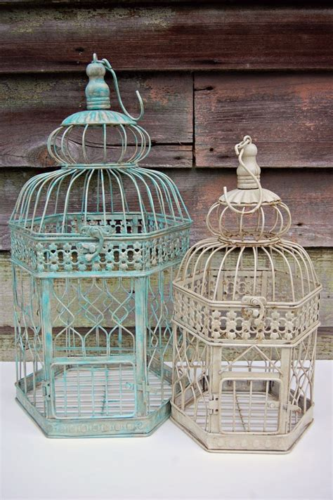diy bird cage decoration shabby chic rustic home party or diy wedding decor 14 quot bird cage