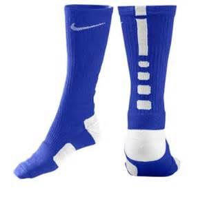 NIKE ELITE Basketball ATHLETIC Socks size L -8-12 Men's ROYAL BLUE ~ DRI- FIT