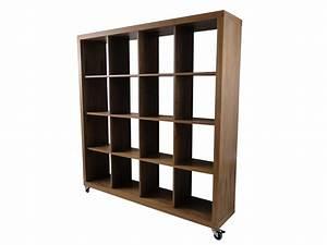 Raumteiler Regal Holz : temahome rolly 4x4 regal rollregal rollenregal raumteiler holz nussbaum neu ebay ~ Sanjose-hotels-ca.com Haus und Dekorationen