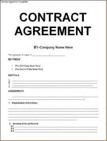 5 Contract Agreement Templatereport Template Document