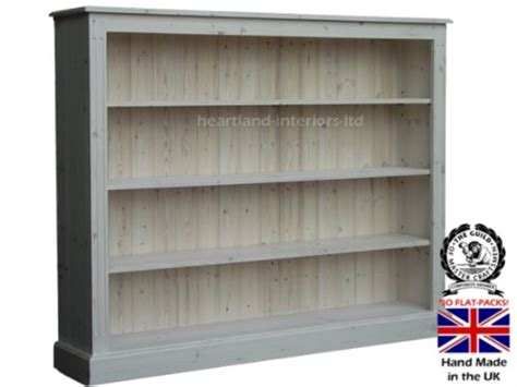solid pine bookcase ft  ft handcrafted white washed