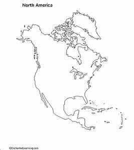 Blank Map Of North America Worksheet