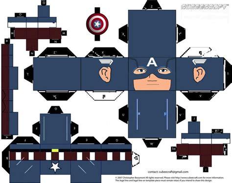 Cubeecraft De El Capitan America (3)