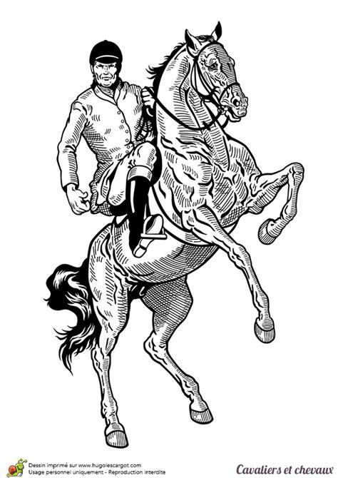 dessiner sa cuisine en ligne gratuit coloriage cavalier et chevaux un cheval qui se cabre