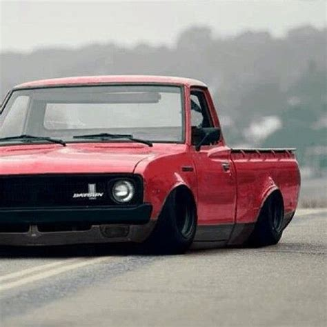 Bagged Datsun by Mini Truck Bagged And Bodied She Got That Steez