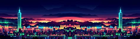 neon city  wallpaper  versions included