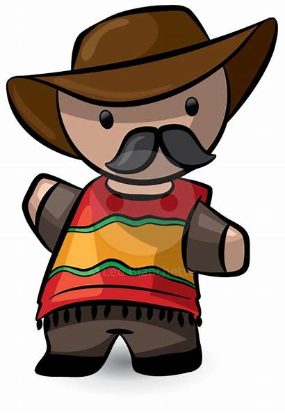 Mexican Spanish Clipart Animation Mexico Cowboy South