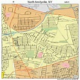 North Amityville New York Street Map 3651396