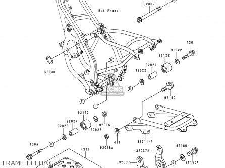 kawasaki kdx125 a1 1990 europe uk fr ar nr sa sd st parts lists and schematics