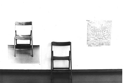 Joseph Kosuth One And Three Chairs by January 2011 Maple Syrup For The Lover S Soul