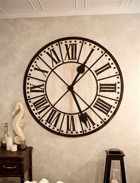 cuisine ouverte design 45 idées pour le plus cool horloge géante murale