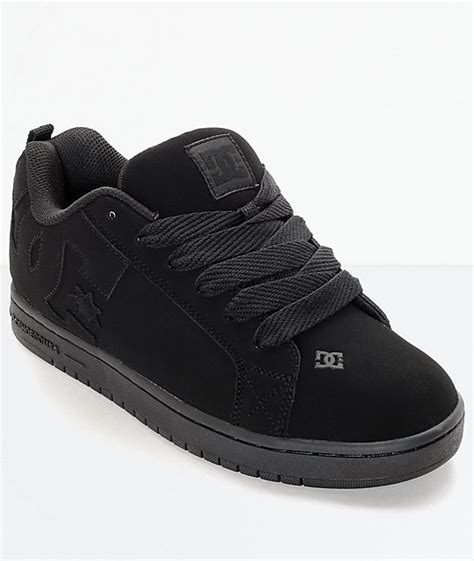 Dcurt Graffik All Black Skate Shoes Zumiez