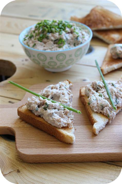 comment cuisiner du thon frais rillettes de thon au fromage frais à la ciboulette