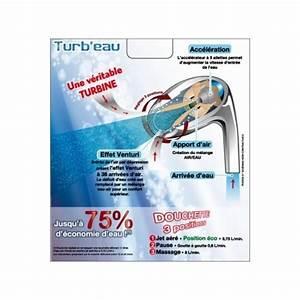 Douchette Économiseur D Eau : douchette conomique ecoxygen turb 39 eau effet venturi ~ Mglfilm.com Idées de Décoration