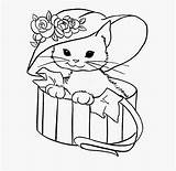 Coloring Printable Cats Popular Wearing sketch template