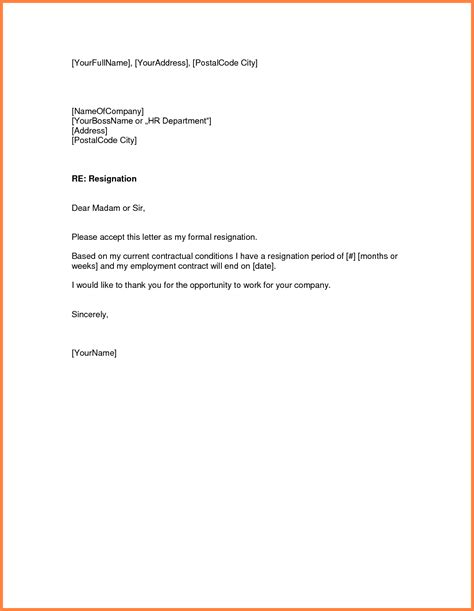 resignation letter samples month notice notice letter