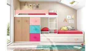 Lits superposés avec lit gigogne fun et moderne GLICERIO SO NUIT