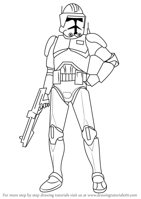 Learn How to Draw Cody from Star Wars (Star Wars) Step by