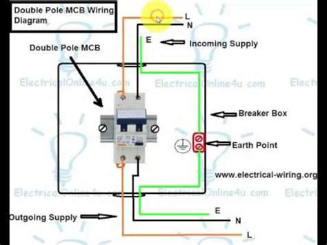 30a Circuit Breaker Wiring Diagram by How To Wire Pole Breaker Mcb In