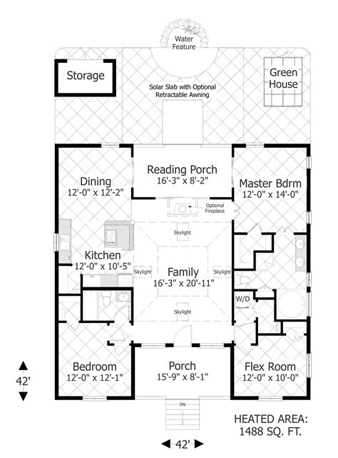 house pla the eco box 3107 3 bedrooms and 2 baths the house