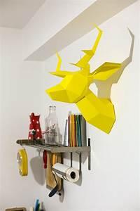 Trophée Animaux Origami : trophee animaux design maison design ~ Teatrodelosmanantiales.com Idées de Décoration