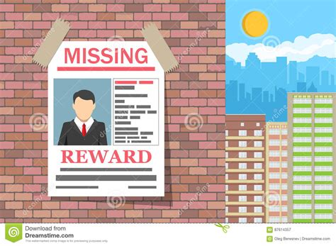 Missing Person Poster Vector Illustration