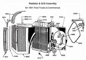 photo z detail information radiator grill assy for 1941 With 1941 ford coe truck