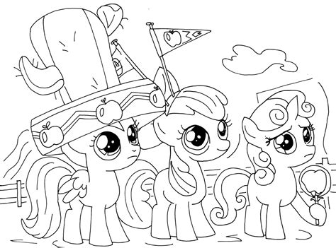 mlp coloring my pony cutie crusaders coloring pages