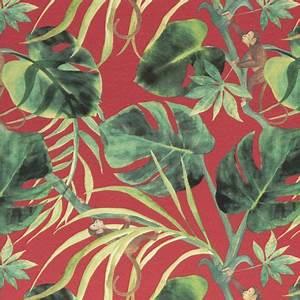 Tissu Imprimé Tropical : monkey business tissu ameublement imprim pour fauteuil et canap clarke clarke ~ Teatrodelosmanantiales.com Idées de Décoration