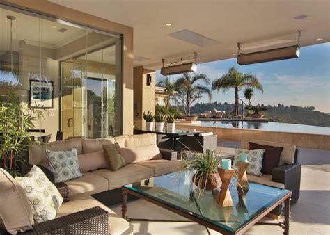 Contemporary Kitchen And Indooroutdoor Living Room