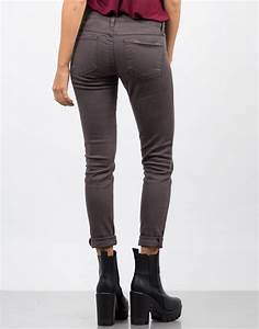 Ex Boyfriend Skinny Jeans - Grey Jeans - White Denim u2013 2020AVE