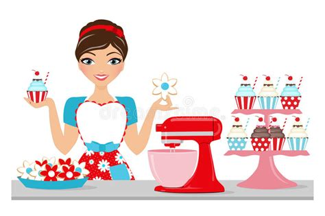 Baked Goods Woman Stock Photo. Illustration Of Counter