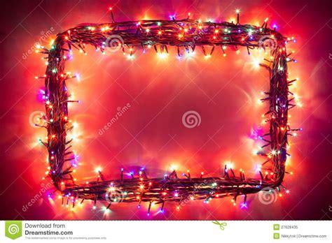 christmas lights frame stock image image  banner lamps