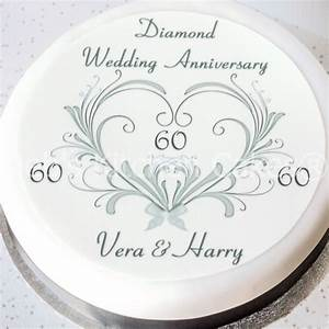 60th Wedding Anniversary Cake Topper - Personalised