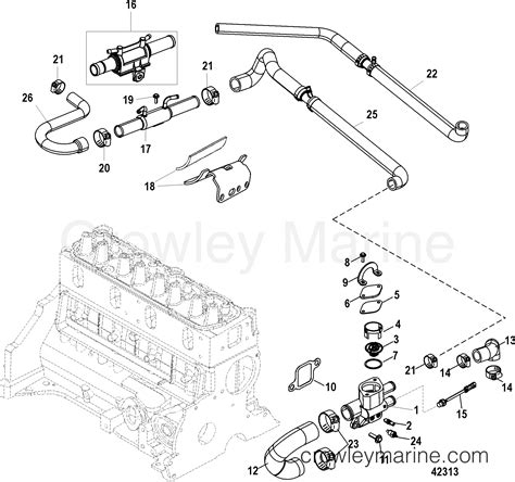 Mercruiser Thermostat Wiring Diagram by Standard Cooling System 1998 Mercruiser 3 0l Alpha