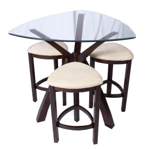 glass pub table set the crossroads glass top counter height pub set