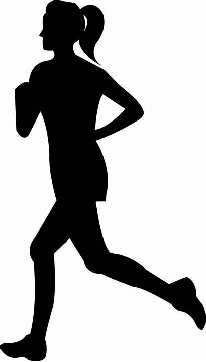 Running Clipart Clip Runner Silhouette Woman Female