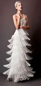 20 fringe wedding dresses that catch an eye crazyforus With fringe wedding dress