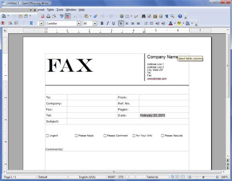 Fax Cover Letter Template Open Office by Trick List Regular Computer Tips Tricks Tweaks And