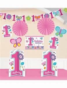 Kit décoration anniversaire 1 an fille fleurs Mister Fiesta