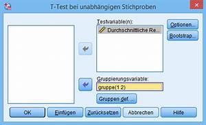 Mittelwert Berechnen Spss : ungepaarten t test in spss berechnen statistikguru ~ Themetempest.com Abrechnung