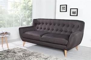 3 Er Sofa : retro designklassiker 3er sofa scandinavia meisterst ck anthrazit 3 sitzer riess ambiente ~ Whattoseeinmadrid.com Haus und Dekorationen