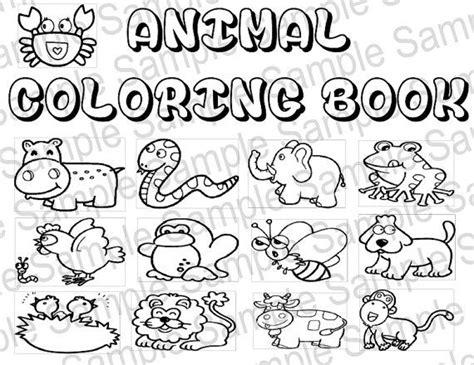 animal coloring book  printable animals