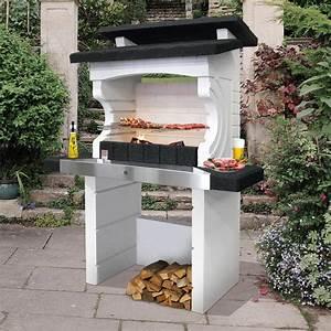 barbecue en beton gris et noir kos l114 x l60 x h197 With barbecue beton cellulaire exterieur
