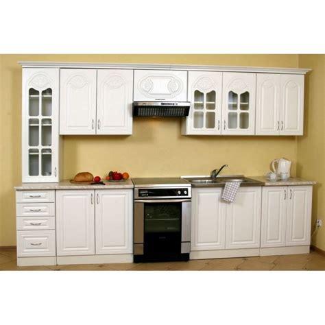 element bas de cuisine cuisine équipée blanche longueur totale 3 20 m achat